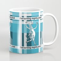 zebra Mugs featuring Zebra  by mailboxdisco