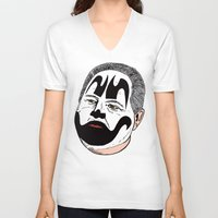 rush V-neck T-shirts featuring Rush Juggalaugh by Chris Piascik