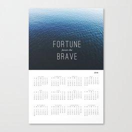 Fortune 2018 Wall Calendar Canvas Print