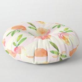 Peaches pattern Floor Pillow