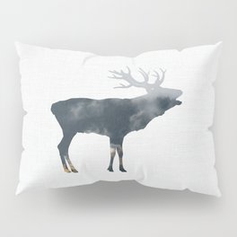 Elk and Mountains Pillow Sham