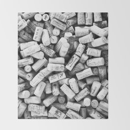 Something Nostalgic II Twist-off Wine Corks in Black And White #decor #society6 #buyart Throw Blanket