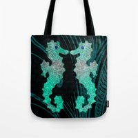 seahorse Tote Bags featuring SEAHORSE by Catspaws
