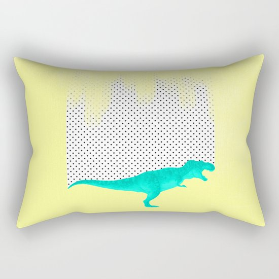 dino got the blues, or not! Rectangular Pillow