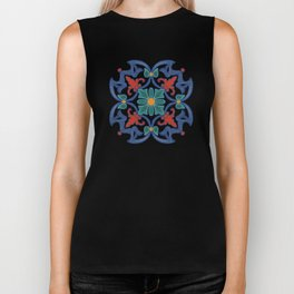 Colorful Azulejos Pattern Biker Tank
