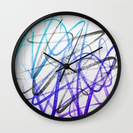 Expressive and Spontaneous Abstract Marker Wall Clock
