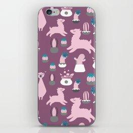 Alpaca fun purple iPhone Skin