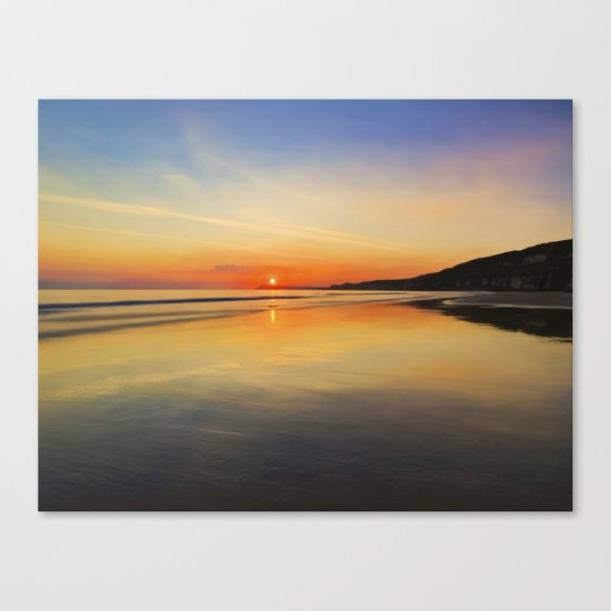 Dawn colours Canvas Print
