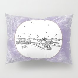 Pattaya City, Thailand City Skyline Illustration Drawing Pillow Sham