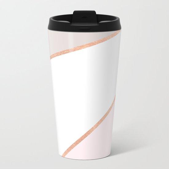 GEO ROSEGOLD PASTEL Metal Travel Mug