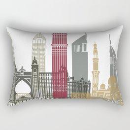 Dubai skyline poster Rectangular Pillow