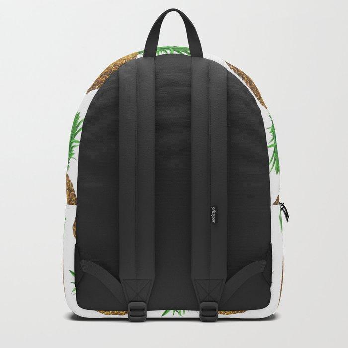 Pineapples, tropical fruit pattern design Backpack