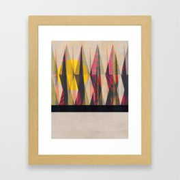 Sun Through the Forest Framed Art Print
