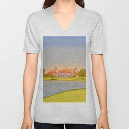 TPC Sawgrass Golf Course 18th Hole And Clubhouse Unisex V-Neck