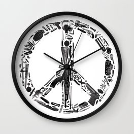 Find Peace (White) Wall Clock