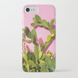 Pink Wall/Green Cactus  iPhone Case
