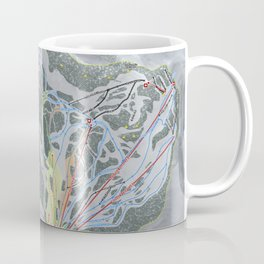Stevens Pass Trail Map Coffee Mug