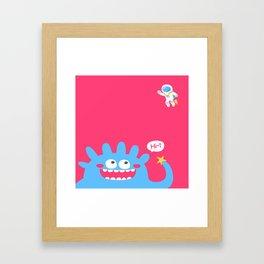 Alien say hi Framed Art Print