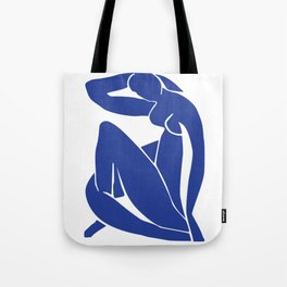 Matisse blue woman print, abstract woman print, matisse wall art, Abstract Modern Print, Tote Bag