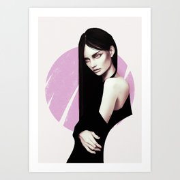 Little black dress Art Print