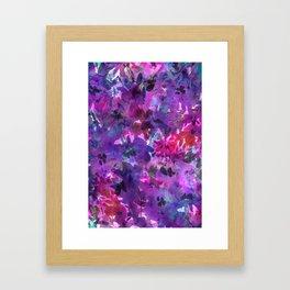 Violet Fields Framed Art Print
