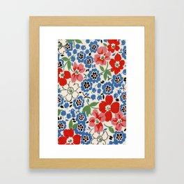 UPPERCASE feedsack floral Framed Art Print