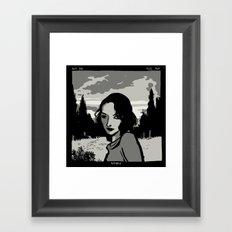 Holga Portrait Framed Art Print