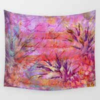 fruits Wall Tapestries featuring Tropical Fruits by LebensART