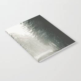 Forest Road In Winter Notebook