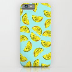Lemon Slices Pattern Turquoise iPhone 6s Slim Case