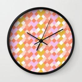 Geometic Summer Pattern Wall Clock