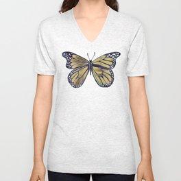 Gold Butterfly Unisex V-Neck
