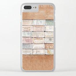 Wine Cork Trivet Clear iPhone Case