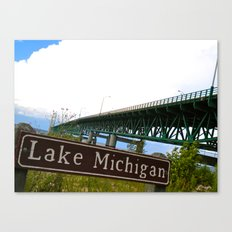 Lake Michigan - Mackinac Bridge Canvas Print