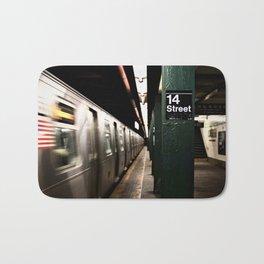 Speeding Subway Train Bath Mat
