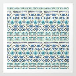 Blue Moon Tribal Art Print