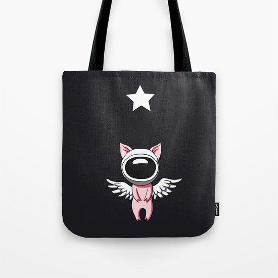 Piglet in Space Tote Bag