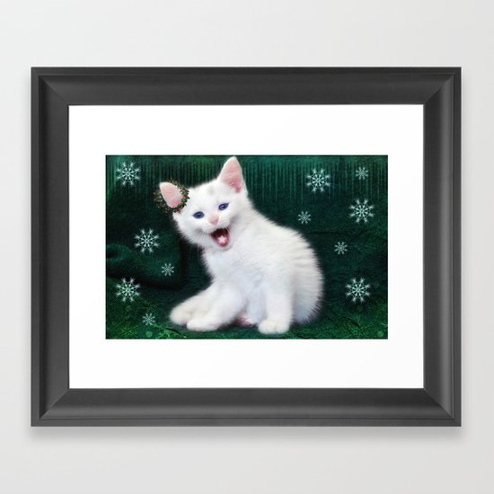 Catching Snowflakes Framed Art Print