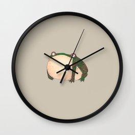 Common Frog Wall Clock