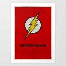 Flash (Super Minimalist series) Art Print