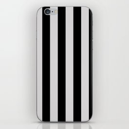 Black and Gray Vertical Stripes iPhone Skin