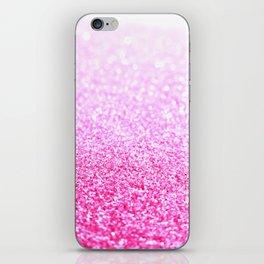 Pink Lavender Sparkle Glitter iPhone Skin