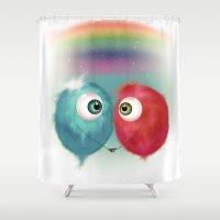 Hello Earthling - love Shower Curtain