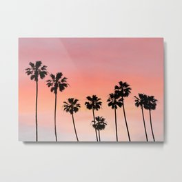 Blushing Palms Metal Print