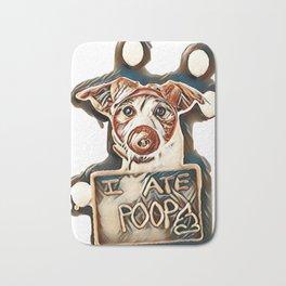DOG DRESSED AS A PIG AFTER EAT POOP        - Image Bath Mat