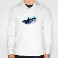 biology Hoodies featuring Lost in Fantasy ~ Orca ~ Killer Whale by Amber Marine