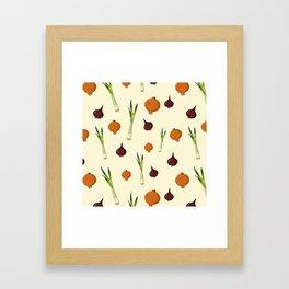 Onion pattern Framed Art Print