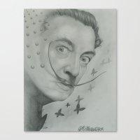 salvador dali Canvas Prints featuring Salvador Dali  by KennethShaw