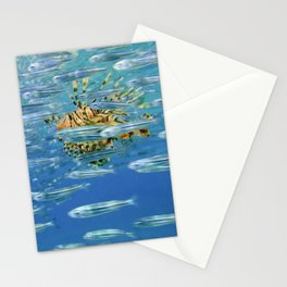 lion fish in the red sea Stationery Cards