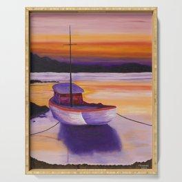 Purple Sunrise Serving Tray